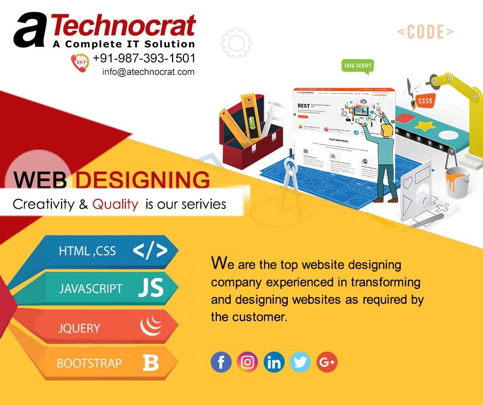 Website Designing Company in India, Web Development Agency | Atechnocrat